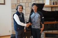 Professional Golfer Kunihiro Kamii visit O.R.I