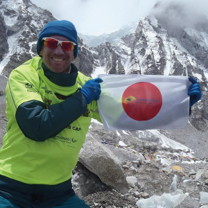 Marathon man on the roof of the world! David Redor sends a big thanks to the Immun'Âge team.